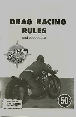 DRaG RaCING Rules & Procedure, JAP, NoRTON, BsA, JaWA,MaTCHLESS, TRIUMPH,H.D., N
