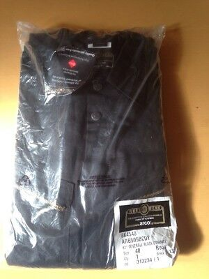 Men's Black Coverall Boiler Suit Size 40 Brand-New Never Used