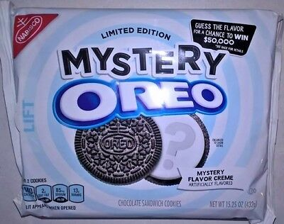 LIMITED EDITION Mystery Oreo Guess The Flavor Creme Chocolate Sandwich Cookies