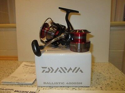 Daiwa Ballistic 4000 SH Reel, Serviced by Daiwa, Spare Spool & Box