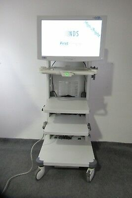 """OLYMPUS S190 Video Cart With 26"""" Radiance G2 HB Monitor.Ref#WN-NP2"""