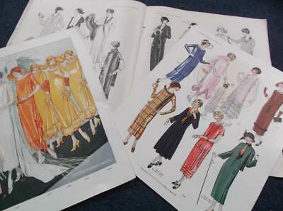 French ? Delineator 1920s Miroir des Modes Butterick sewing pattern magazine