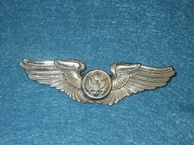 """ORIGINAL WWII USAAF Sterling  Aircrew Wing 3 1/8"""" Full Sized - Pin Back"""
