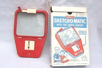 Vintage Merit Sketch-O-Matic Toy, boxed and working (etch a sketch)