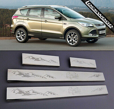 Ford Kuga MK2 released 2013 Stainless Sill Protectors Kick Plates (WITH GRAPHIC)