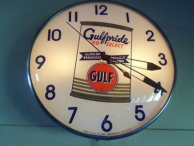 GULF Advertising Lighted Pam Clock