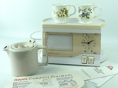 Vintage 1990's SWAN Compact Teasmade Hardly Used Personalise Photo. Instructions