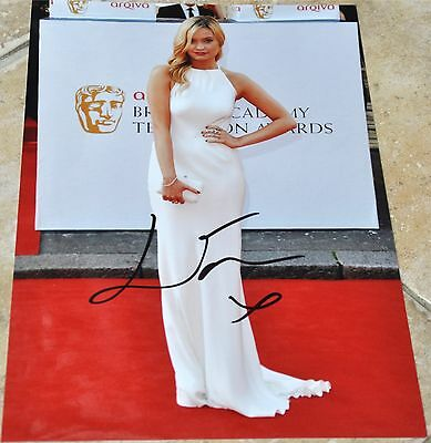 """Laura Whitmore Signed 12""""x 8"""" Colour Photo Strictly Come Dancing 2016"""