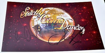 "Louise Redknapp & Danny Mac Signed 12"" x 8"" Colour Photo Strictly Come Dancing"