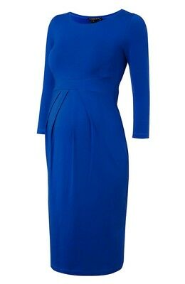New Isabella Oliver Maternity Ivybridge Work Casual Dress Cobalt Blue 1 6 8
