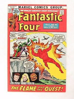 Fantastic Four #117 (1971) Bronze Age VF+ to VF/NM 8.5-9.0 Marvel Comics CC197