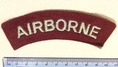 WW2 British Army 'Airborne' curved Title patch