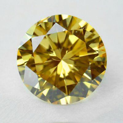 Fiery 0.77 ct 6.05 mm VVS2 Fancy Brown Round Brilliant Cut Loose Moissanite