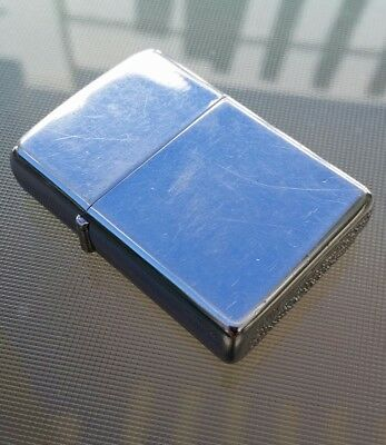 Double-Rare Vintage 1968 Fuel Cell Polished Chrome Zippo Lighter. Ready to use.