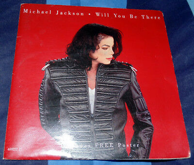 """Michael Jackson 7"""" Single  - Will you be there / girlfriend"""