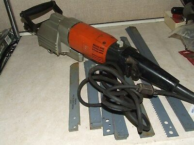 """Fein 849 Reciprocating Electric Hacksaw Cuts Pipe To 24"""" Steel"""