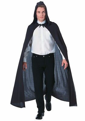 Deluxe Adult Long Hooded Cape Grim Reaper Halloween Costume Cloak Outfit 180cm