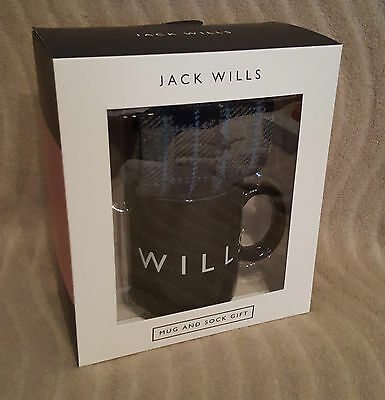 Jack Wills Mens Mug And Sock Gift Set Brand New In Box