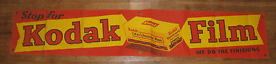 "1950s Kodak Advertising Sign 58"" x 11"" (Canvas w/ Grommets)"