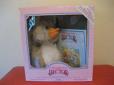 1987 Worlds of Wonder Talking Mother Goose Hector, Book, Tape, Cord in Box