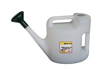 Plastic Watering Clear Can 10L with Rose Clear Side Measurement Markings
