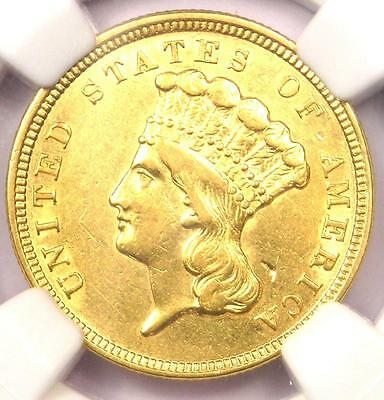 1854 Three Dollar Indian Gold Piece $3 - Certified NGC AU Details - Rare Coin!