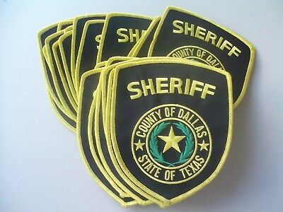 Lot Of 25 Collectible County Of Dallas State Of Texas Sheriff Patches