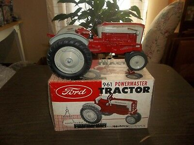 Vintage 1/12 Hubley Ford 961 Powermaster Farm Toy Tractor With Original Box!