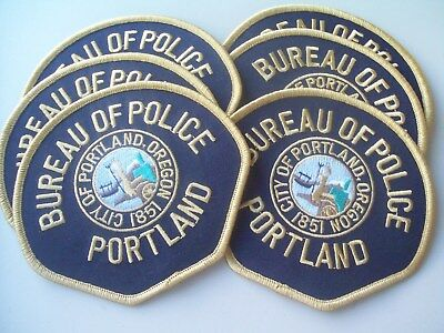 Lot Of 12 Collectible Portland Oregon  Bureau Of Police  Patches