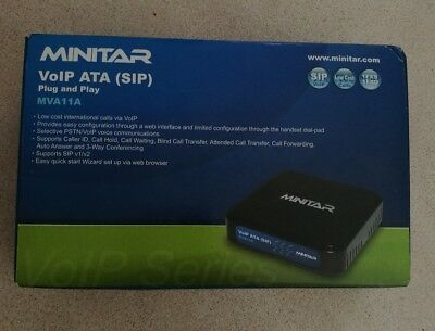 MINITAR VOIP ATA (SIP) MVA11A - Excellent Condition