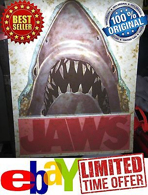 Vintage 1975 Universal Pictures Jaws Movie Iron-On Shirt Heat Transfer Rare