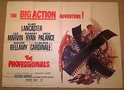 The Professionals  -   1966  Original Uk Quad Poster .