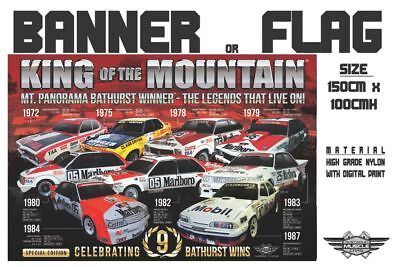 Musclecar Bathurst Winner King of Mountain 9 Wins flag / Banner