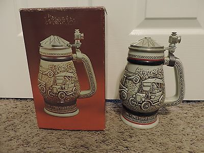1979 AVON CAR CLASSICS Lidded Ceramic Beer Stein w/box
