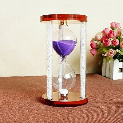 Exquisite Creative Gift Violet  Crystal Hourglass  SL22420