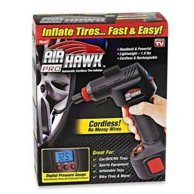 NEW Air Hawk Pro Cordless Tire Inflator - Black