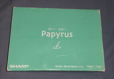 Sharp Papyrus PW-AT760-B electronic dictionary - new old stock, complete in box