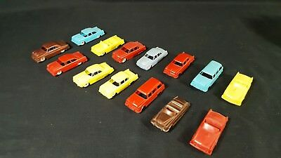 Vintage 1950's Lot of 15 F & F Die & Mold Plastic Post Cereal Premium Prize Cars
