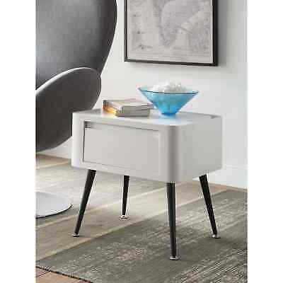 Black & White Mid-century Modern Short Side Table Accent Chair Sofa Bedroom NEW