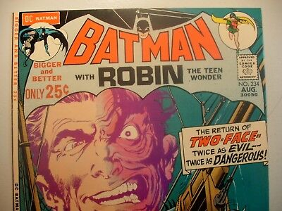BATMAN 234 VF- 7.5 to VF 8.0 NEAL ADAMS DENNY O'NEIL VF- to VF TWO-FACE!! VF- VF
