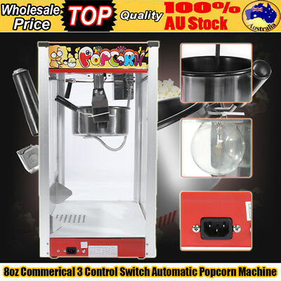 Modern Commercial / Store Electric 8oz Popcorn Maker Machine Corn Kernels 1440W