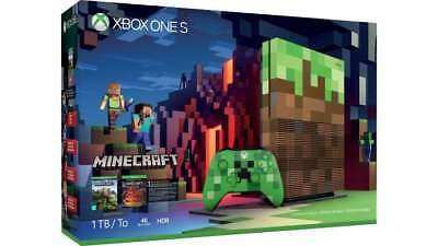 Xbox One S 1TB Console – Minecraft Limited Edition Bundle