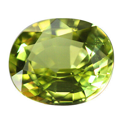 2.49ct Appealing Oval Natural  Apple Green Chrysoberyl.
