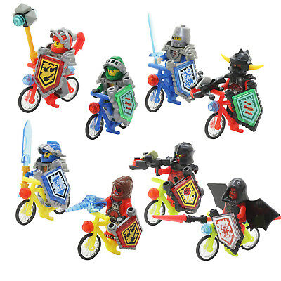 6pcs Nexo Knights Future Warrior bicycle Building Blocks Toy Gift New 5562