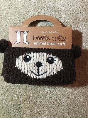 Bear Boogie Cuties Animal Boot Cuffs by CUPCAKES & CARTWHEELS NEW IN BOX