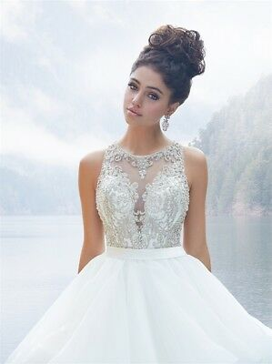NWT Allure Couture Ballgown Style C380 Ivory/Antique Silver Size 8 (US)