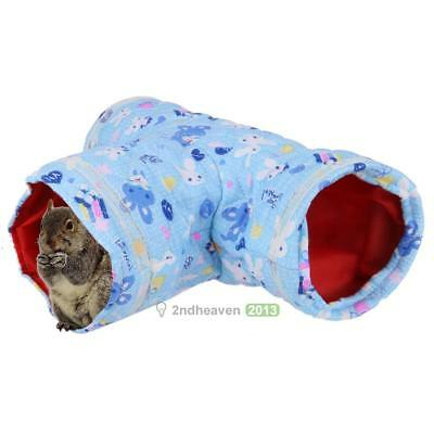 Cute Small Animal Tunnel 3 Way Ferret Hamster Hedgehog Play Toy Bed Nest House