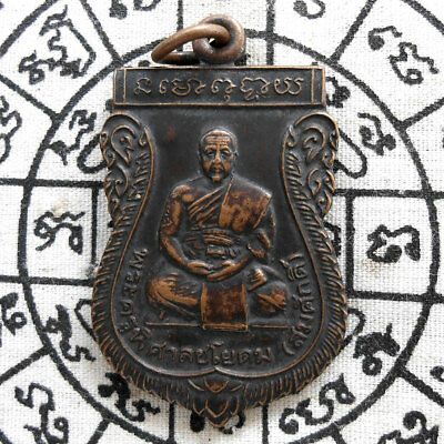 Genuine Thai Amulet Pendant Buddha Phra LP Som Sak Powerful Magic Holy Talisman