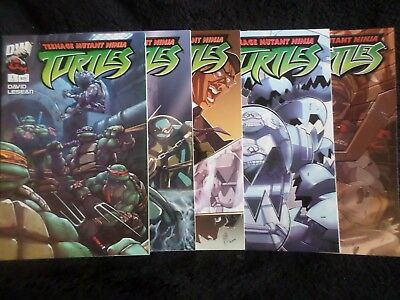 Teenage Mutant Ninja Turtles 1-4 + Variant #1 (2003)  VF/NM Dreamwave Comics