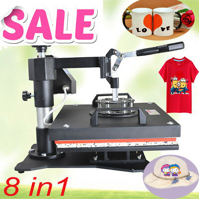 8in1 Heat Press Machine Plate T-Shirt Mug Hat Plate Transfer Sublimation Unit